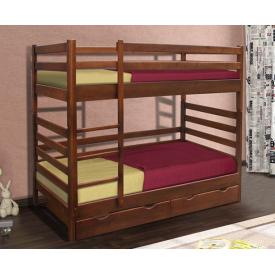 Двох'ярусне ліжко Засоня Мікс-меблі 1700х800х1900 мм темний горіх