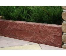 Колотый камень угловой Золотой Мандарин 200х80х80 мм (бордовый)