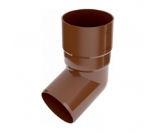 Колено трубы Bryza 125 67 градусов 90,2х145х84,5 мм коричневый