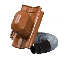 Черепица Jacobi Standard-Grossfalzziegel Z10 с насадкой для вытяжной трубы 287х456 мм красный