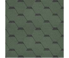 Битумная черепица Shinglas Классик Кадриль 3х317х1000 мм зеленый