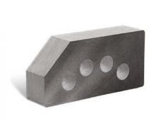 Облицовочный кирпич Литос Гладкий угловой пустотелый 250x120x65 мм серый