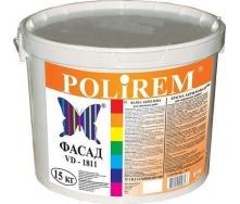 Краска акриловая фасадная Polirem VD-1811 15 кг снежно-белая
