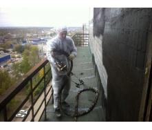 Устройство вертикальной гидроизоляции стен