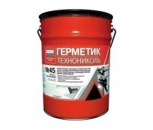 Герметик ТехноНИКОЛЬ №45 бутил-каучуковый 16 кг белый