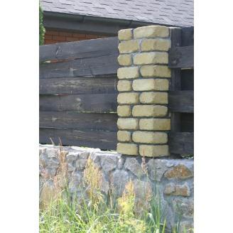Камень Золотой Мандарин Антик 200х100х90 мм (RAL1012/желтый лимон)