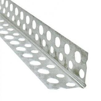 Уголок перфорированный алюминиевый 3 м