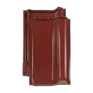 Черепица Braas Рубин 13V Топ глазурь 435х276 мм бриллиантово-вишневый