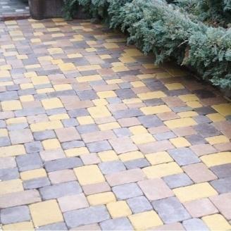 Тротуарная плитка Золотой Мандарин Плац 160х60 мм на белом цементе желтый