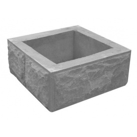 Столб наборный Декор Бетон 380x380x150 мм серый