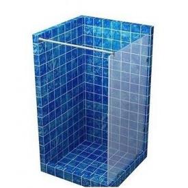Скляна перегородка для душу S-MIX 700 мм