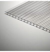 Стільниковий полікарбонат Plazit Polygal Стандарт 6000х2100х6 мм прозорий (Ізраїль)