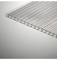 Стільниковий полікарбонат Plazit Polygal Стандарт 12000х2100х4 мм прозорий (Росія)