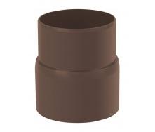 Муфта трубы Альта-Профиль Стандарт 74 мм коричневый