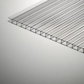 Сотовый поликарбонат Plazit Polygal Стандарт 6000х2100х6 мм прозрачный (Израиль)