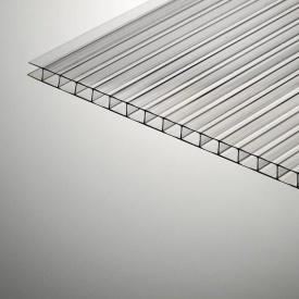 Сотовый поликарбонат Plazit Polygal Стандарт 6000х2100х8 мм прозрачный (Израиль)