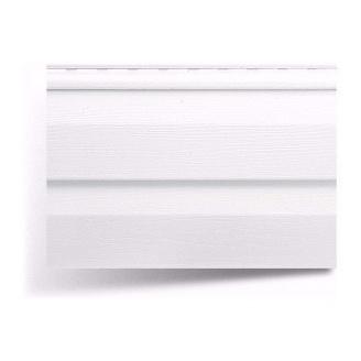 Сайдинг виниловый Альта-Профиль Alta-Siding двухпереломный 3660х230х11 мм белый