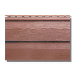 Сайдинг акриловый Альта-Профиль KANADA Плюс Премиум двухпереломный 3660х230х11 мм красно-коричневый