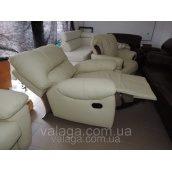 Шкіряний диван реклайнер,меблі regan, шкіряні меблі релакс