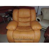 Крісло-реклайнер для вітальні, диван релакс,regan.шкіряні меблі