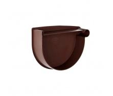 Заглушка воронки правая Rainway 130 мм коричневая