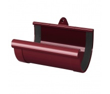Муфта желоба Rainway 90 мм красная