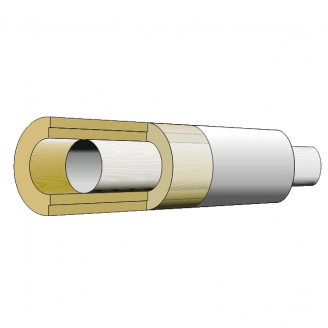 Полуцилидр теплоизоляционный IZOVAT PS 100 AF