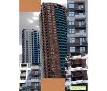 Вентильований фасад Cedar з великоформатними фіброцементними панелями 1200х3000 мм рудий