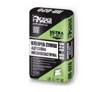 Клеевая смесь тиксотропная эластичная для крупноформатной плитки Полипласт ПП-020 25 кг