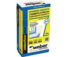 Наливная стяжка weber.floor level 5-80 мм 1,8 кг/м2 25 кг