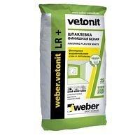 Фінішна шпаклівка weber.vetonit LR+ на полімерному в'яжучому 1,2 кг/м2 20 кг біла