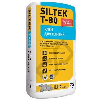 Клей для плитки SILTEK Т-80 25 кг