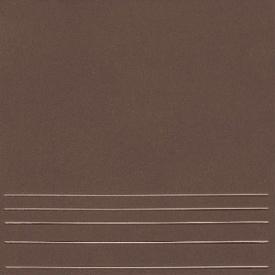 Клінкерна плитка KERAMIN Амстердам 4 сходинка 298х298 мм темно-коричнева