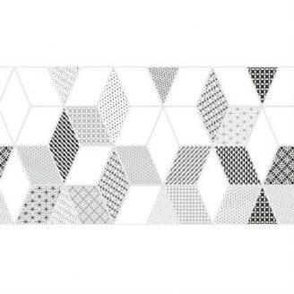 Керамическая плитка KERAMIN Тренд 7 тип 2 300х600 мм серая белая матовая