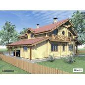 Проект дерев'яного будинку Lesco 210 м2