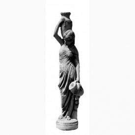 Скульптура Харьковпрофбетон Девушка с кувшинами 340х1440 мм серая