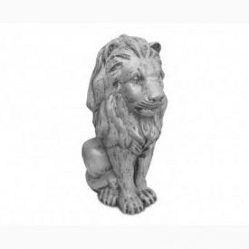 Скульптура Харьковпрофбетон Лев малыш 160х220х420 мм серая