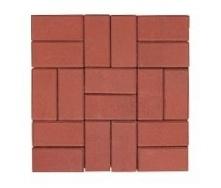 Тротуарная плитка ЭКО Кирпич 200х100х25 мм красная