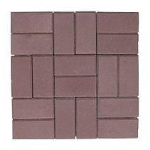 Тротуарная плитка ЭКО Кирпич 200х100х25 мм коричневая