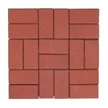 Тротуарная плитка ЭКО Кирпич 200х100х40 мм красная