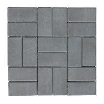 Тротуарная плитка ЭКО Кирпич 200х100х25 мм серая