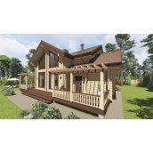 Проект деревянного дома Леско 202 м2