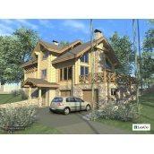 Проект дерев'яного будинку 370 м2