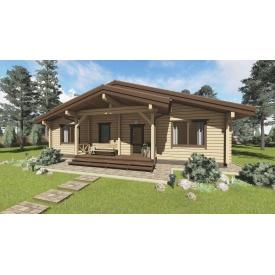 Проект дерев'яного будинку Lesco 125 м2