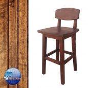 Барный стул высокий c лаковым покрытием