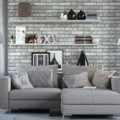 Плитка Golden Tile BrickStyle London Smoke (дымчастый) 60х250 мм (30В020)
