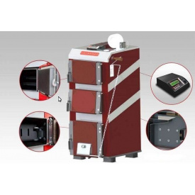 Котел твердопаливний TatraMet Uni 6 мм сталь 33 кВт