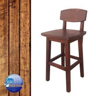 Барний стілець високий c лаковим покриттям