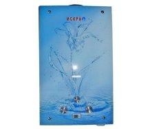 Газовий проточний водонагрівач Іскра JSD 20 LCD MT-1 20 кВт 10 л/хв принт квітка скло
