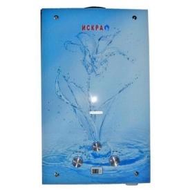 Газовый проточный водонагреватель Искра JSD 20 LCD MT-1 20 кВт 10 л/мин принт цветок стекло